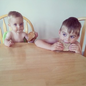 babies and their sandwiches