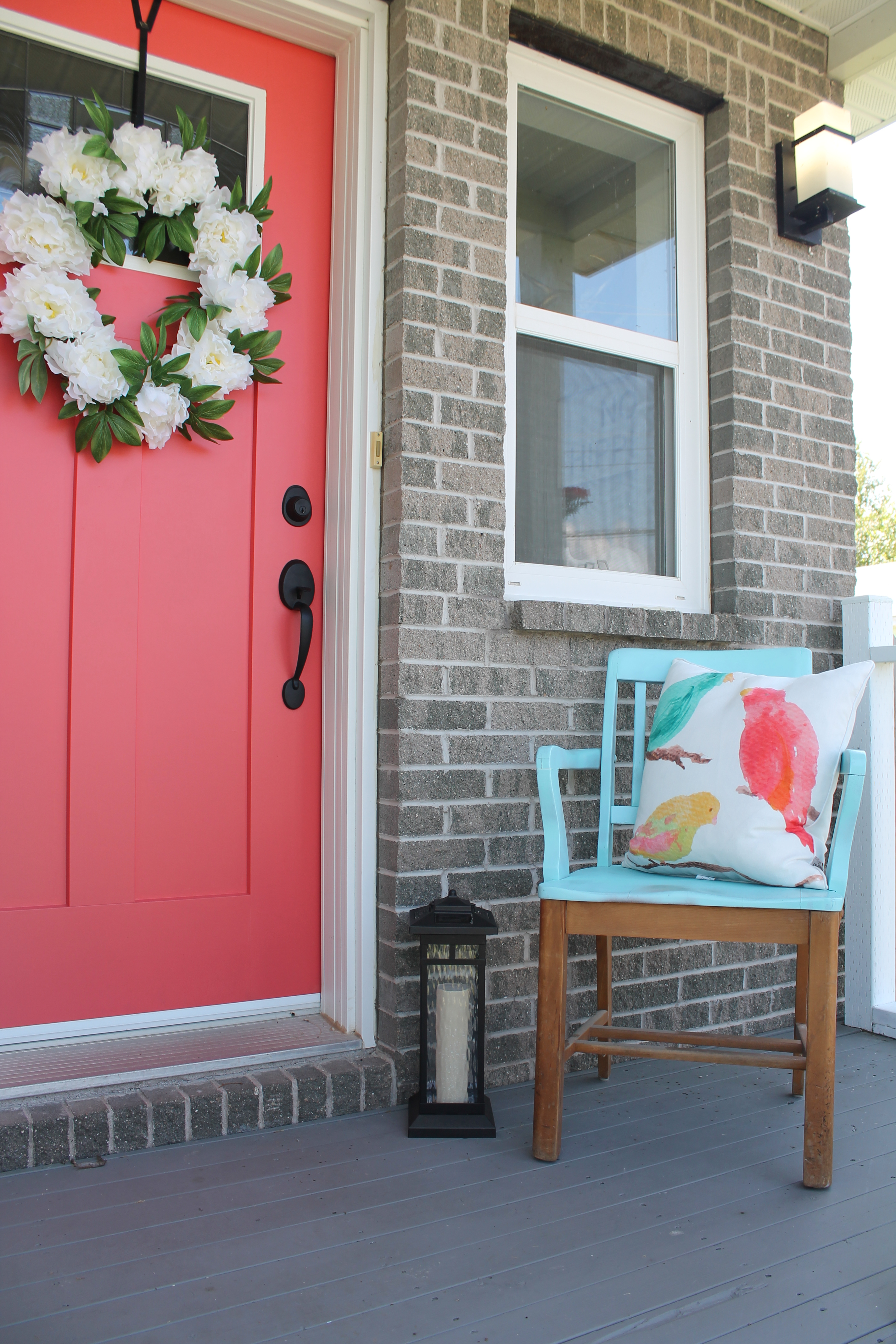 Coral Front Door Just Add Paint Minty Green Dream