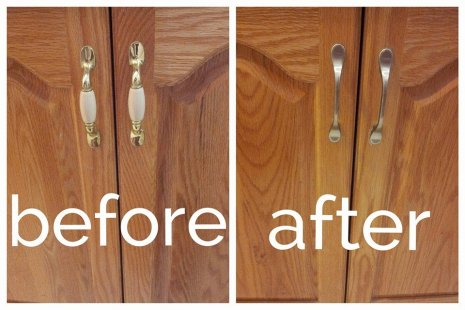 knobs before after